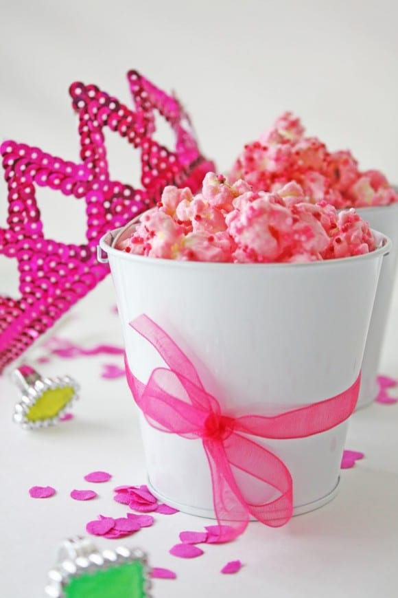 Pink Princess Party Popcorn | CatchMyParty.com