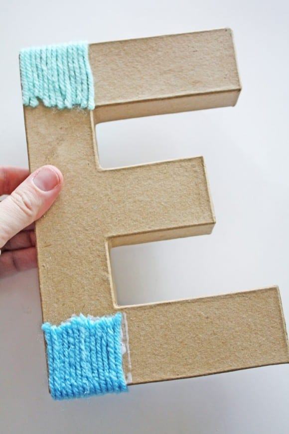 Creating Yarn Ombre Letter | CatchMyParty.com