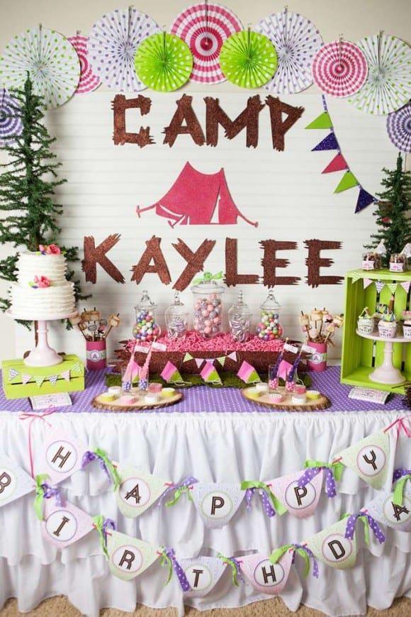 Glamping Party For A Tween Girl Birthday