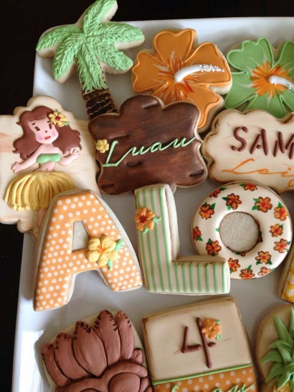 Luau cookies | Catchmyparty.com