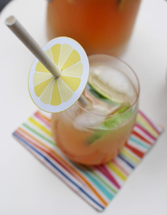 Summer Citrus Sangria Recipe & Free Printables | CatchMyParty.com