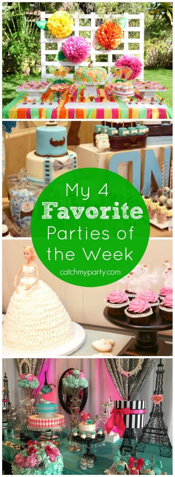 My favorite parties this week include a Mexican Fiesta Party, a mustache bash, a Swan Lake ballet party, and a glam Paris Quinceanera! | Catchmyparty.com