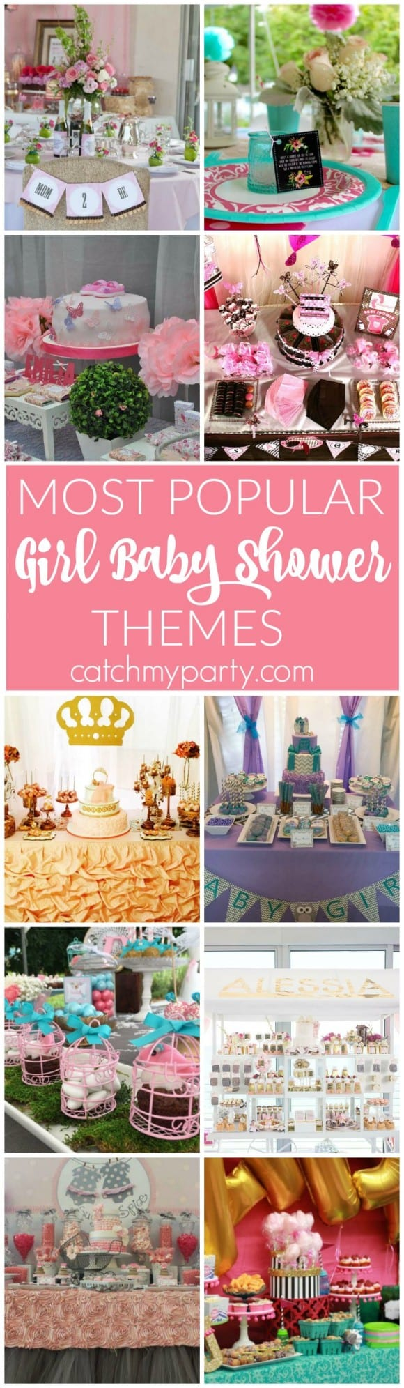 Most Popular Girl Baby Shower Themes | Catchmyparty.com