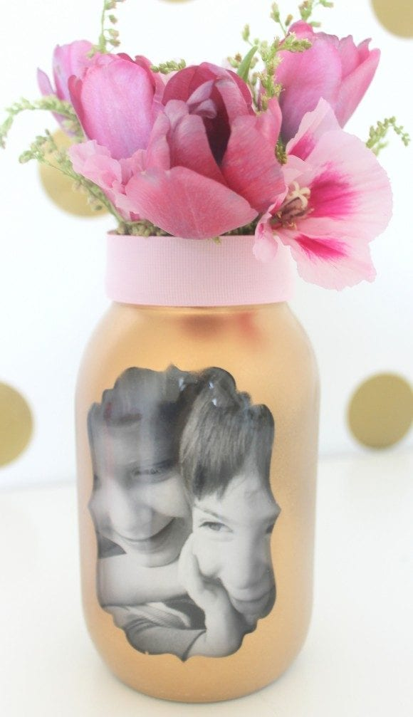 Easy Mother's Day Photo Vase | CatchMyParty.com