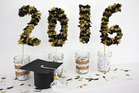 2016 Tissue Paper Graduation Party Decor | Catchmyparty.com