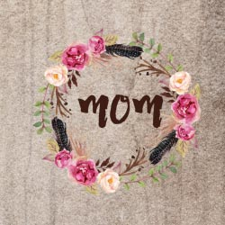 Free Boho Flowers Mother's Day printables | CatchMyParty.com