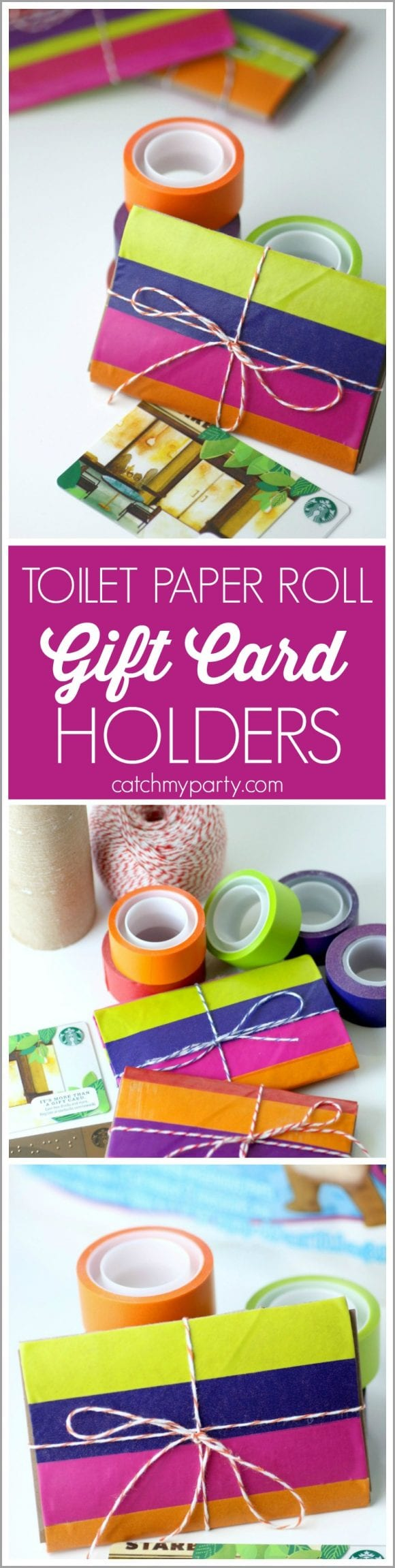 Toilet Paper Roll Gift Card Holders | CatchMyParty.com