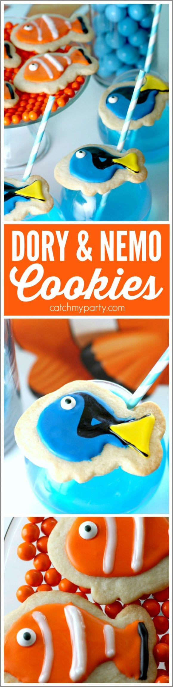 Finding Dory & Finding Nemo Cookies | CatchMyParty.com