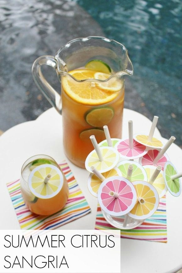 Summer Citrus Sangria | CatchMyParty.com