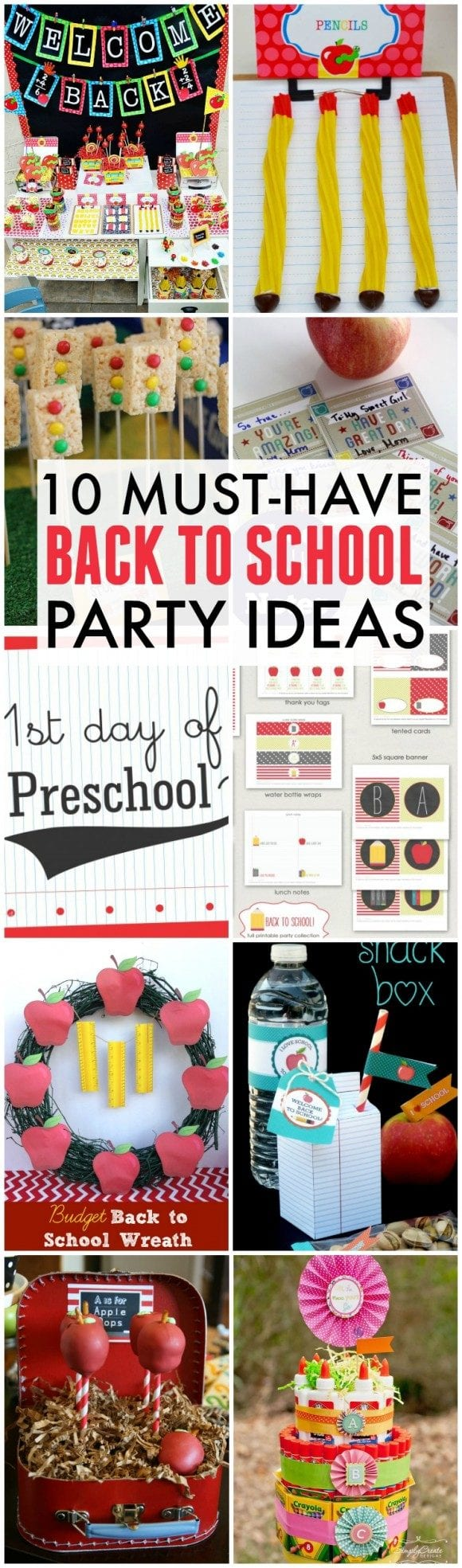 10 Must Have Back-To-School Party Ideas | CatchMyParty.com