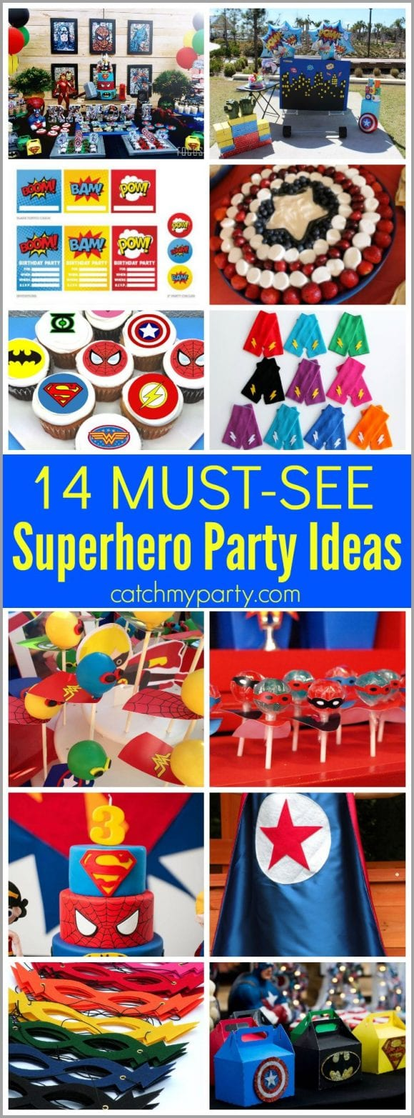 14 Must-See Superhero Party Ideas | Catchmyparty.com