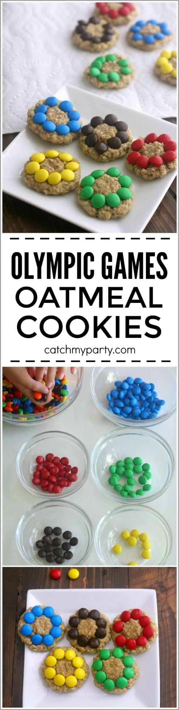 Olympic Games Oatmeal M&M Cookies | CatchMyParty.com