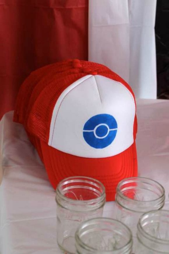 Party Favor Pokeball Trainer Hat | CatchMyParty.com