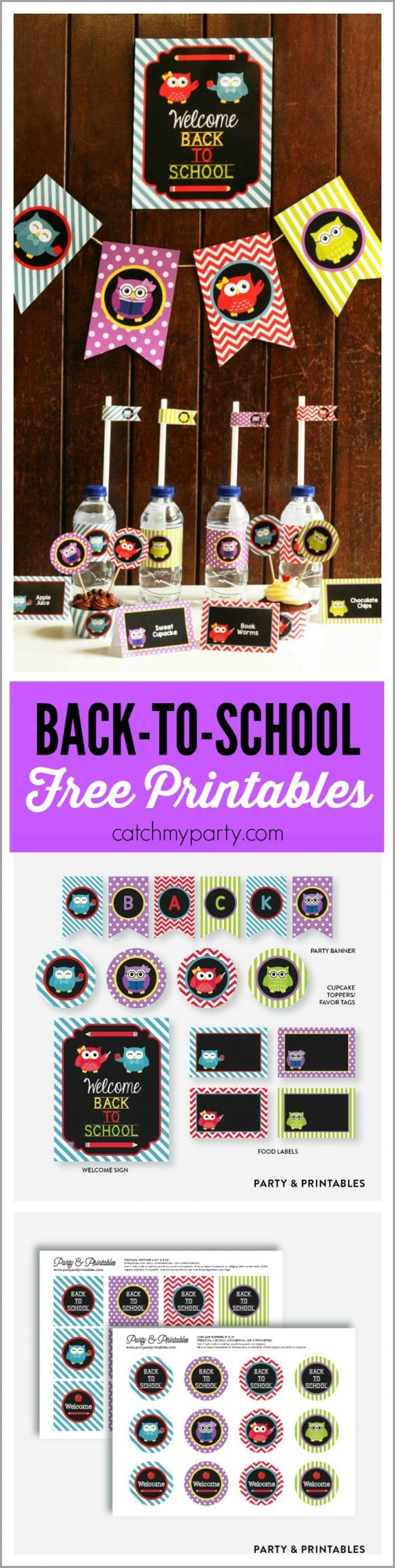 Free Back-To-School Owl Printables | CatchMyParty.com
