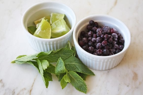 Blueberry Mojito Ingredients | CatchMyParty.com