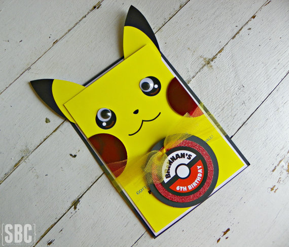 Pokemon Birthday Party Invitations | CatchMyParty.com