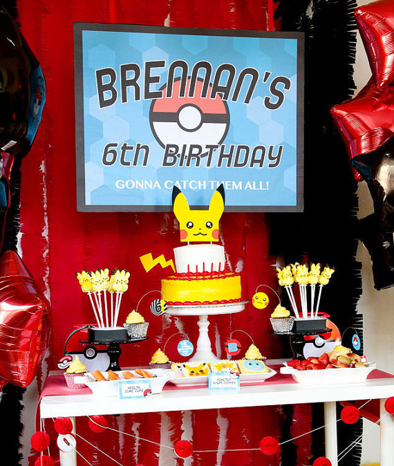 Pokemon Party Ideas - Dessert Table | CatchMyParty.com