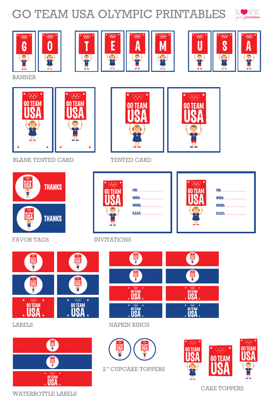 Free Olympic Games Party Printables | CatchMyParty.com
