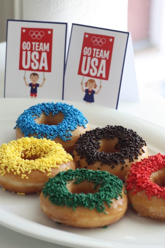 Olympic Games Sprinkle Donuts | CatchMyParty.com