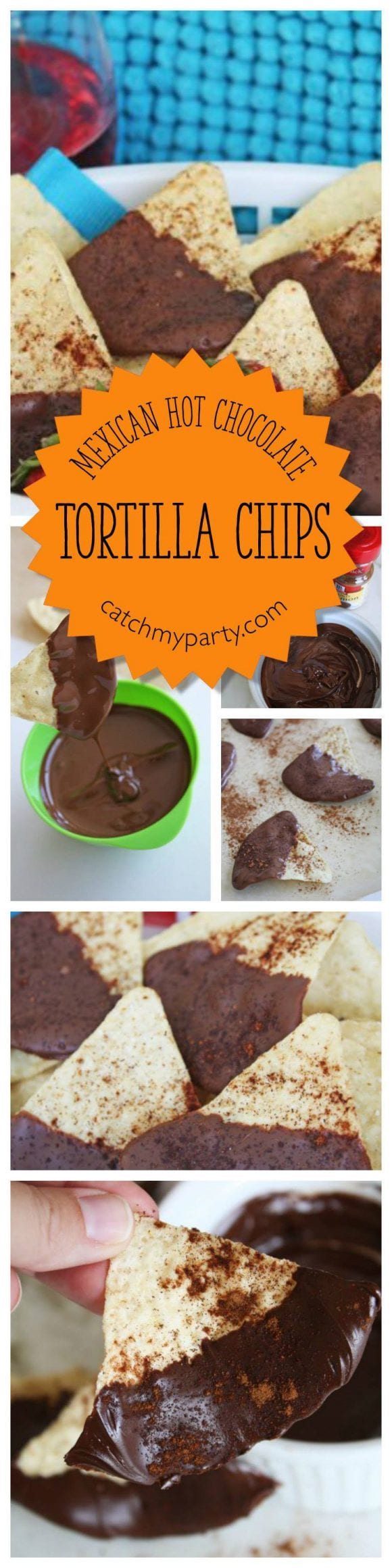 Mexican Hot Chocolate Tortilla Chips | CatchMyParty.com