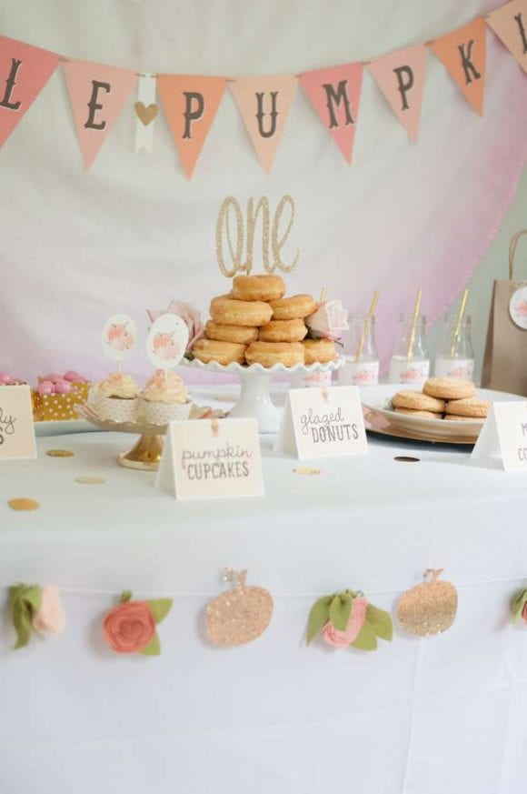 Little pumpkin donut party | Catchmyparty.com