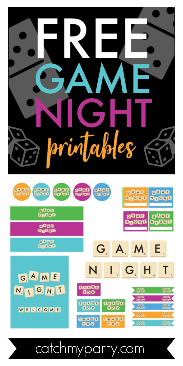 Download these Free Game Night Party Printables!