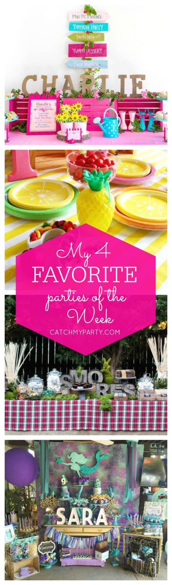 My favorite parties include a WellieWishers American Girl party, a two-tti frutti party, a s'mores bar and a mermaid party | Catchmyparty.com