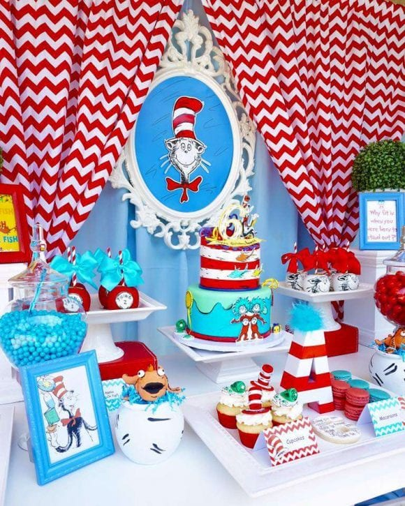 Dr. Seuss Birthday Party | CatchMyParty.com