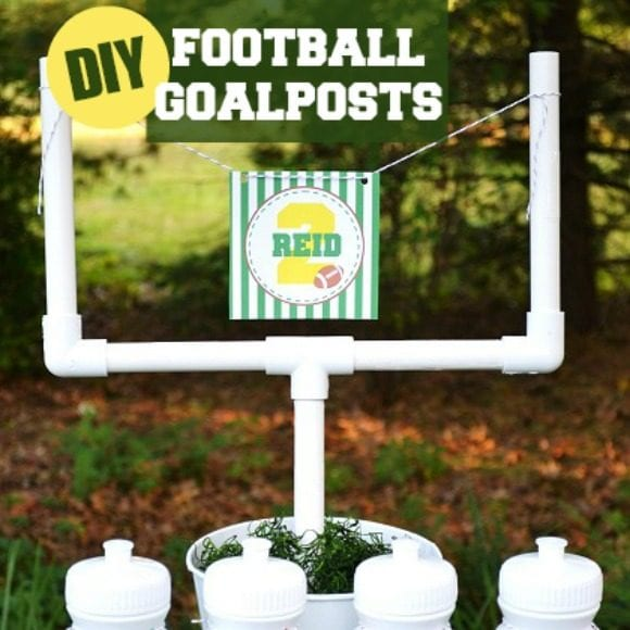 DIY Football Goal Post | CatchMyParty.com