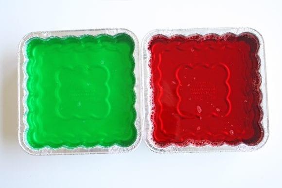 Chilled Green and Red Jello Overnight | CatchMyParty.com