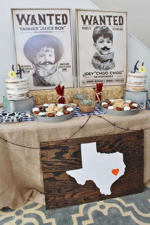 Western rodeo birthday party | CatchMyParty.com