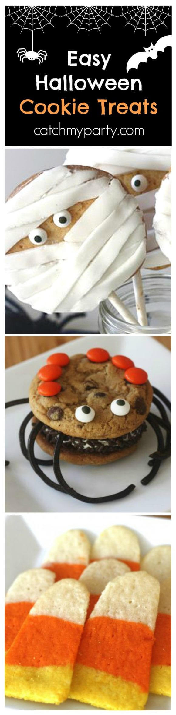 Easy Halloween Cookie Treats | CatchMyParty.com