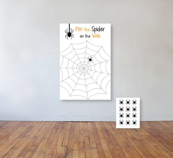 Halloween Pin the Spider on the Web Game | CatchMyParty.com