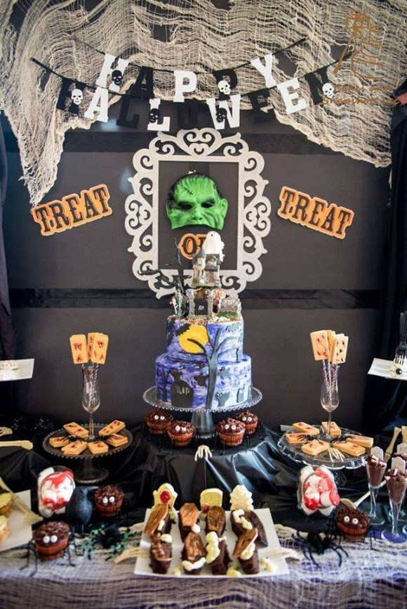 Frankenstein Halloween Party | CatchMyParty.com