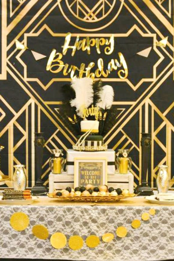 Great Gatsby 40th Birthday Party Theme
