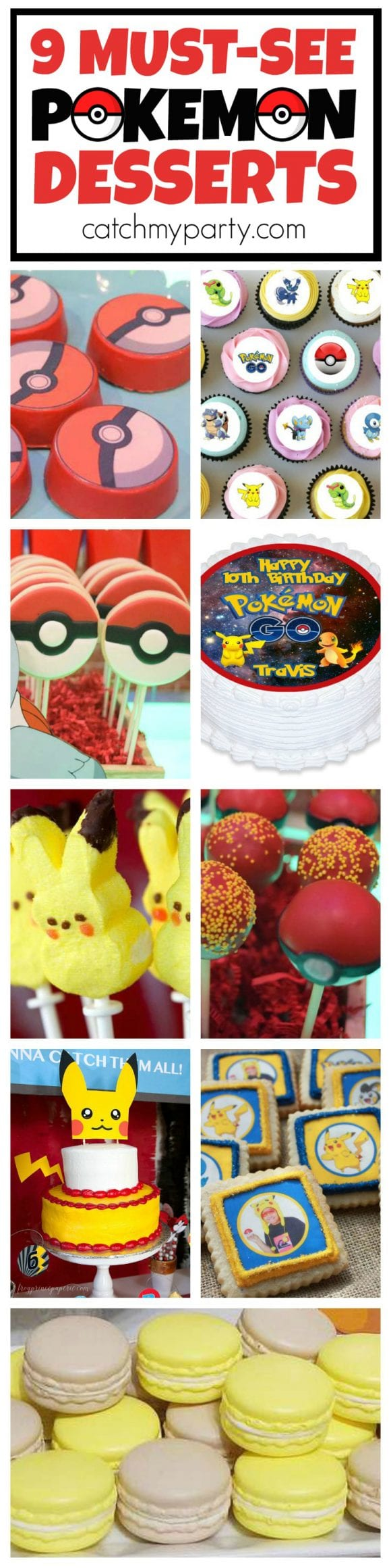 9 Must-See Pokemon Desserts | CatchMyParty.com