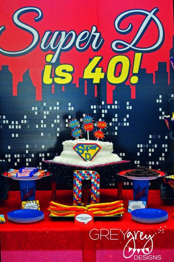 Wonder Woman Superhero 40th Birthday Party Theme