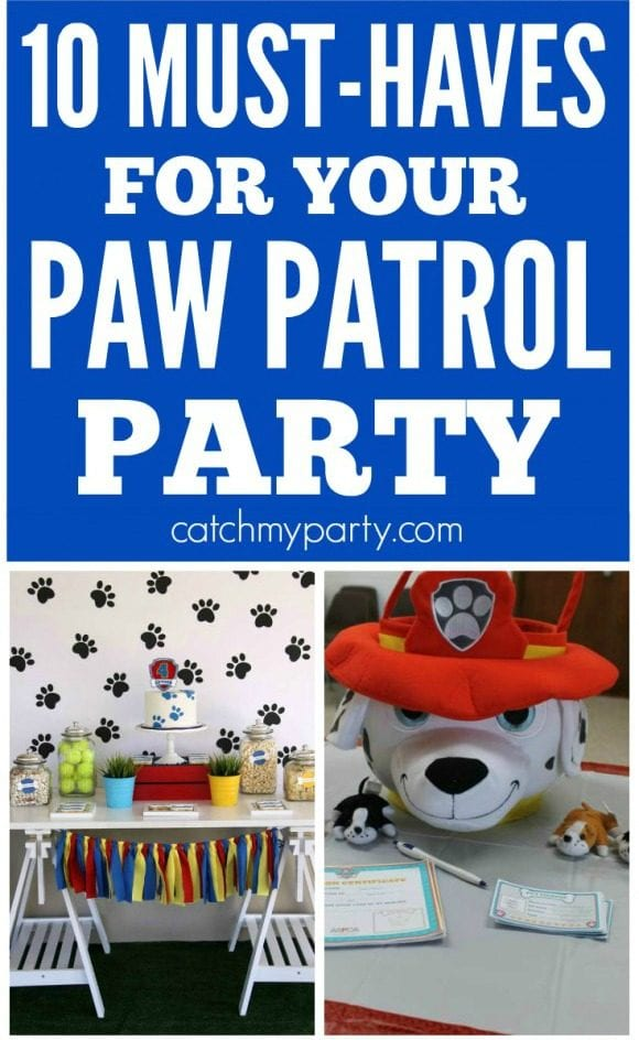 10 Must-Have Paw Patrol Party Ideas | CatchMyParty.com
