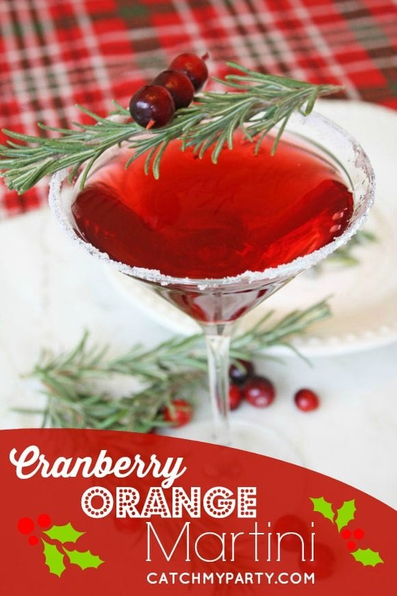 Christmas Cranberry Orange Martini | CatchMyParty.com