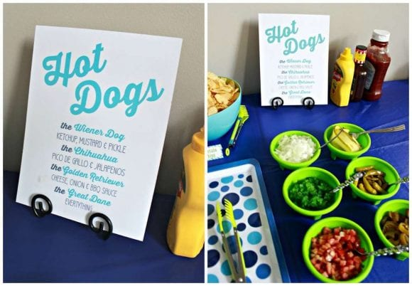 Hot dog bar | CatchMyParty.com