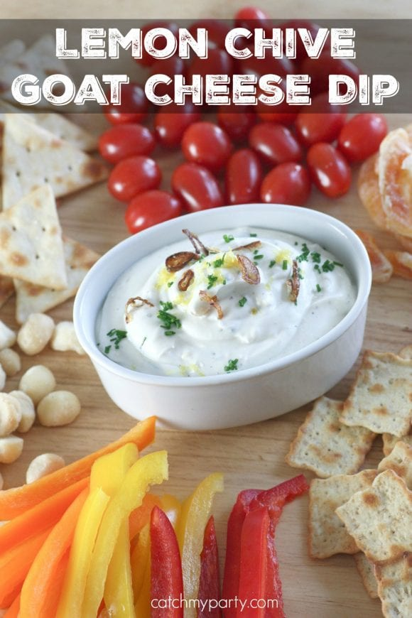 Lemon Chive Goat Cheese Dip | CatchMyParty.com