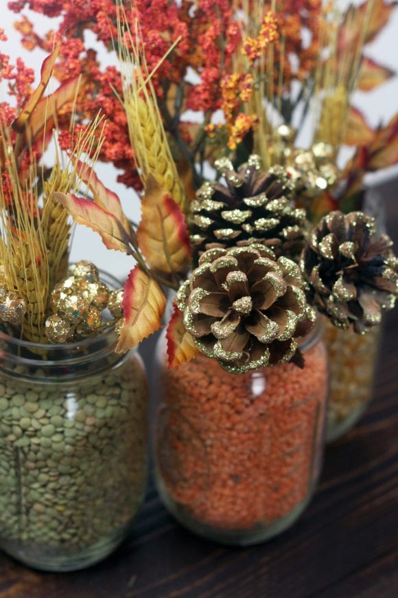 Rustic Floral Centerpiece for Fall | CatchMyParty.com