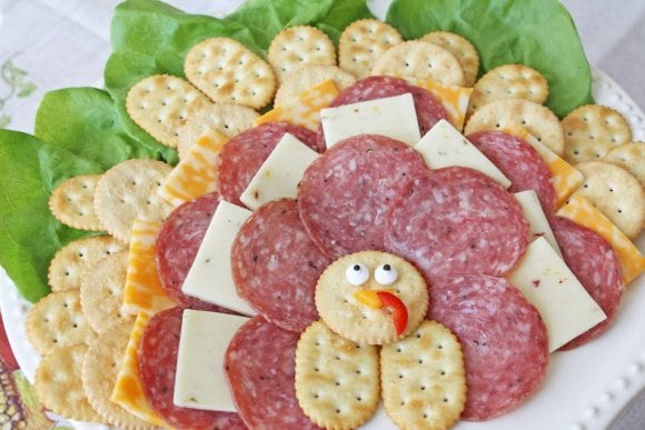 Thanksgiving Meat and Cheese Plate | CatchMyParty.com