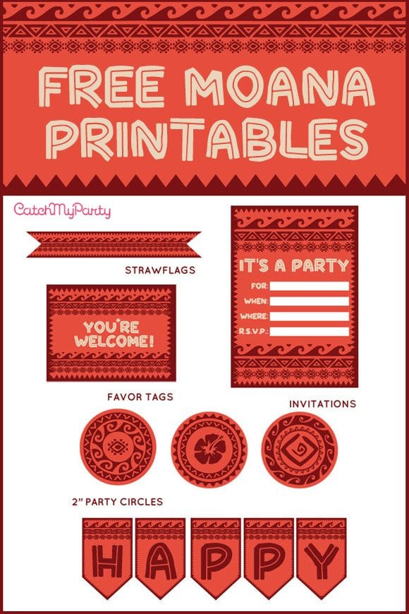 Free Moana birthday printables | CatchMyParty.com