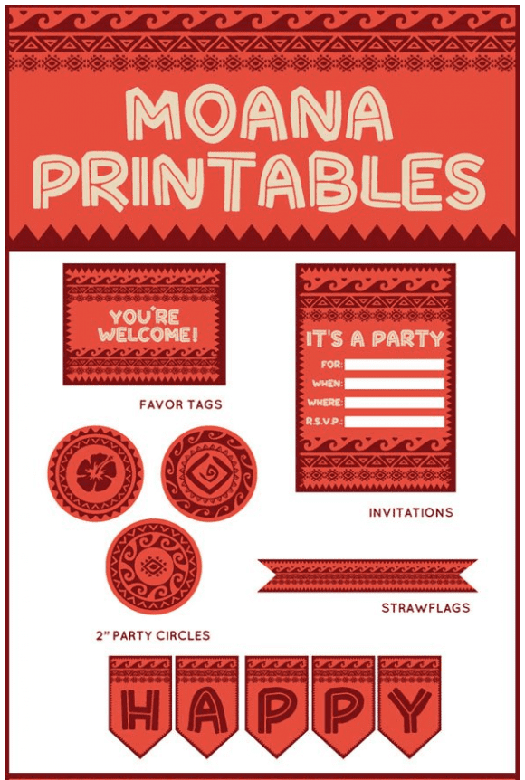 Free Moana Party Printables | CatchMyParty.com