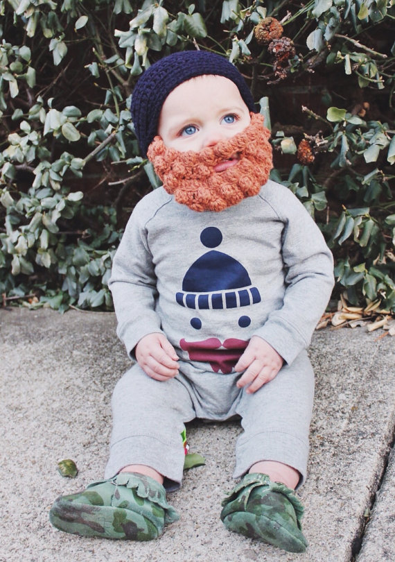 Crocheted Lumberjack Beard | CatchMyParty.com