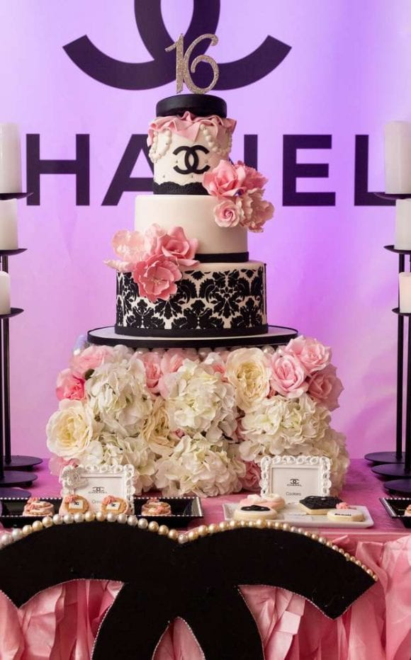 Chanel themed Quinceanera | CatchMyParty.com