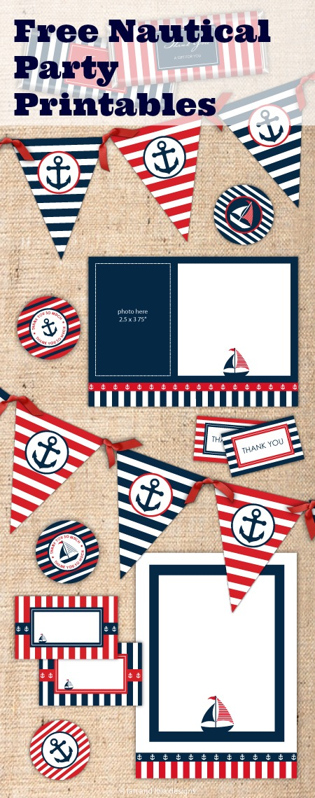 Free Nautical Party Printables | CatchMyParty.com