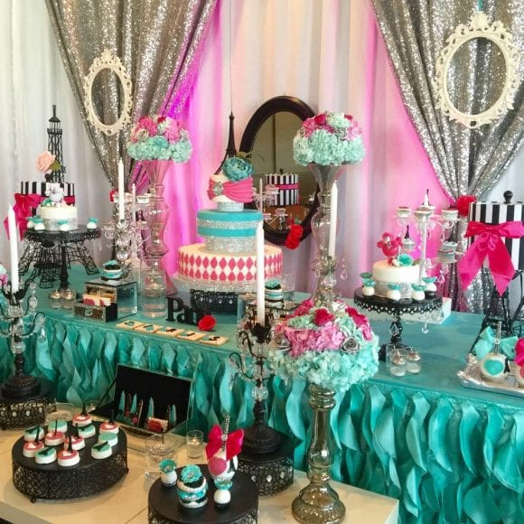 Glam themed Quinceanera | CatchMyParty.com