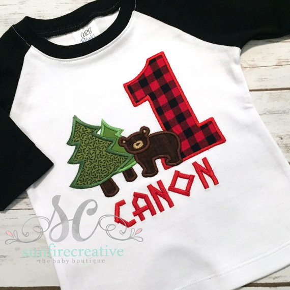 1st Birthday Lumberjack Shirts | CatchMyParty.com